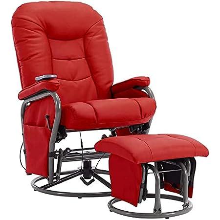 Massagesessel Sessel Massage Wärme Relaxsessel Fernsehsessel Fußhocker Heizung