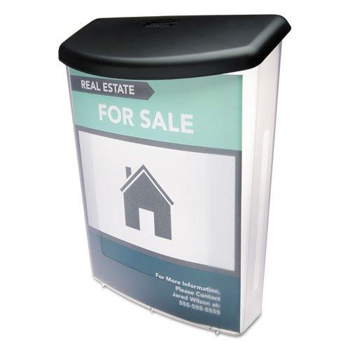 Coffre à Documentation d'extérieur, 10 W X 4–1/2d X 13–1/8H, clair/noir, vendu comme 1 chaque