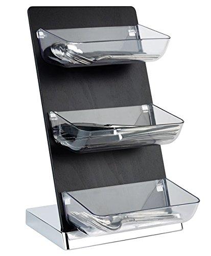 PROFI Service-Tower aus Holz, Acryl, SAN Kunststoff & Metall (verchromt), Präsentations-& Spendersystem bei minimalen Platzbedarf | SUN (A3)