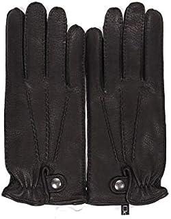 [アルポ] レザー グローブ ブラック 鹿革 シボ革 揉み革 手袋 メンズ AP182UA CERVO239 NERO