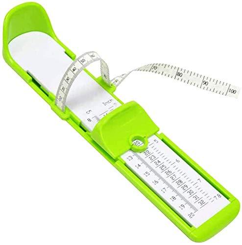 Fußmessgerät, Schuhmessgerät, Lineal, Fußbreite, Länge, Messwerkzeug für Kinder und Erwachsene, grün