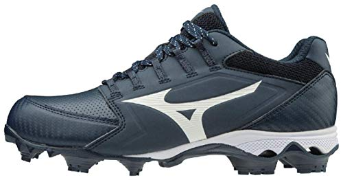Mizuno 320590.5100.03.0500 9-Spike Advanced Finch Elite 4 Womens TPU Molded Softball Cleat Navy-White (5100) 5 (0500)