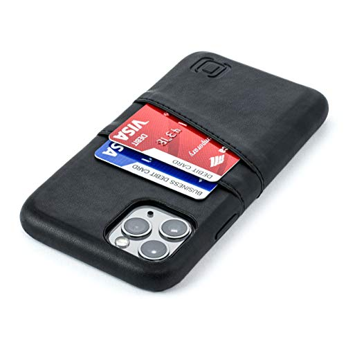 Dockem iPhone 11 Pro Wallet Case: Built-in Metal Plate for Magnetic Mounting & 2 Credit Card Holder Slots (5.8 Exec M2, Synthetic Leather, Black)