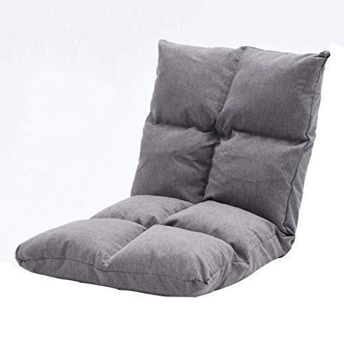 ETJar Ajustable plegable Taburetes, 6 plazas silla ajustable para piso sofás, algodón lino Butaca de juego, Sillón de lectura del dormitorio principal