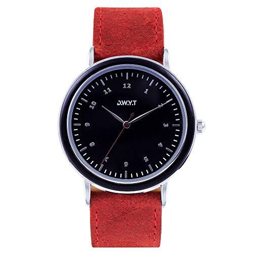 DWYT Watch Mixte Uhr Analogique Quartz mit Cuir Armband DW-01503-1006