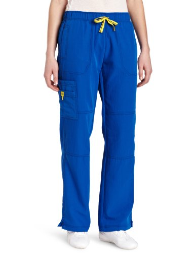 WonderWink womens Four-Stretch Sporty Cargo Pant, Royal, Medium