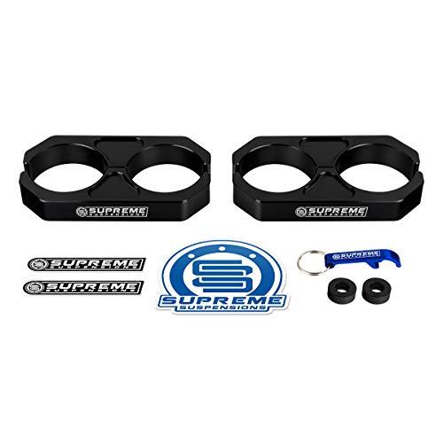 Supreme Suspensions - Black Universal Billet T6 Aluminum Coilover Reservoir Brackets