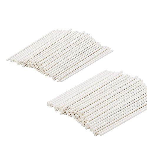 400PCS 4-Inch White Lollipop Sticks Cake Pops Stick for Candy,Chocolate,Cookie,Dessert
