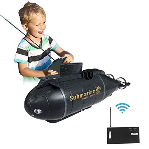 Easy-topbuy Barco De Control Remoto Mini Simulación RC Submarino Lancha Radiocontrol Juguetes De Agua Eléctricos para Niños, 12.2x3.3x4.6 Cm