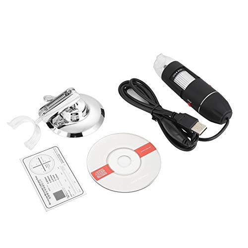 Wireless USB Digital Microscope, Handheld WiFi Electronic Magnification Endoscope Camera 500X USB Magnifier for Phone Computer with Carrying Case & Metal Stand