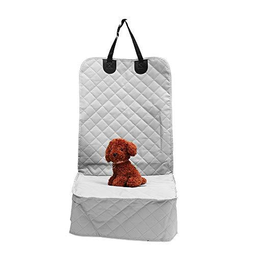 PeroFors Car Copilot Seat Oxford Cloth Non Slip Pet Matte Travel Seat Dog Protector Carrier Cushion Pad-Grey