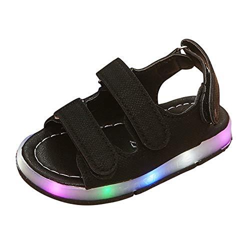 Moonker Kids Shoes,Toddler Baby Boys Girls Sport Summer Light-Up Sandals LED Luminous Flat Shoes...