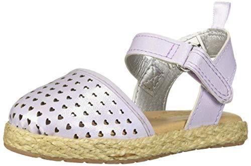 OshKosh B'Gosh Girls Georgette Closed Toe Espadrille Sandal Wedge, Purple, 5 M US Toddler