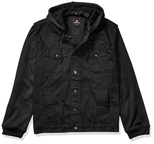 Southpole Men's Big and Tall Fashion Denim Jacket, Jet Black, 4XB