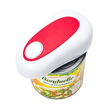 Electric Can Opener, Euhomy 4AA Batteries Operated Smooth Soft Edge with One Touch Start Automatic Can Opener for Arthritis Individuals, Seniors, Restaurant Chefs.