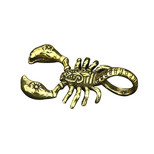 LKHF Colgante de latón escorpión sólido Hecho a Mano, Colgante de Personalidad, Mascota
