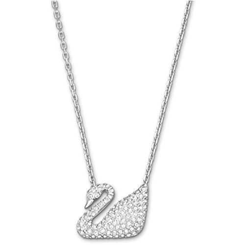 Swarovski Women's Classic Swan Pendant Necklace, Finely Cut Stones with a Classic Swan motif and a Rhodium Plated Chain