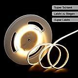 DANCRA LED Neon Lichtleiste, 5M 24V ultradünne 4mm weiche und einfach zu flexible Biegung, Super...