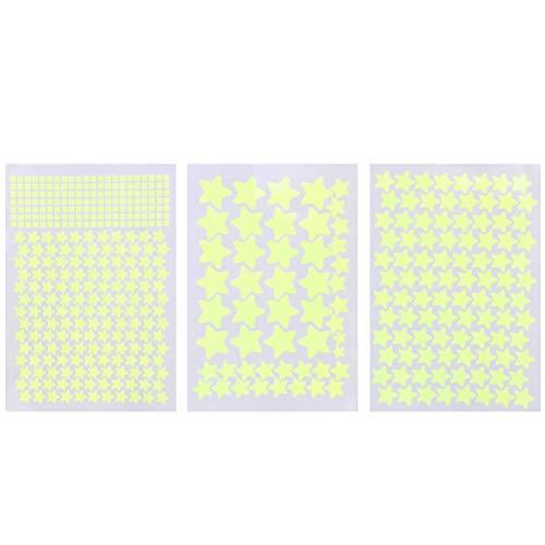 Pegatinas de Estrellas 3D Que Brillan en la Oscuridad, 452 Piezas de Pegatinas de Pared Pegatinas de Estrellas Luminosas Fluorescentes Que Brillan en la Oscuridad,