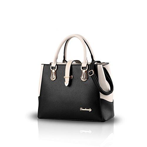 Nicole&Doris 2016 nouveau sac š€ de style de mode principale noir et blanc sac š€ bandouliššre casuale corpo croix travaglio Bourse pour dames(Black)