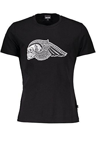 Just Cavalli S03GC0461 Camiseta con Las Mangas Cortas Hombre Nero 900 2XL