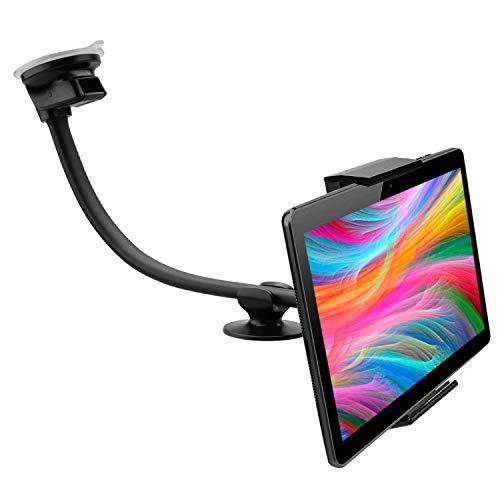 Houder voor tablet, auto, dashboard, zuignap, dubbel geldig voor tablet, PC tot 30,5 cm (12 inch) scherm, houder, tablet voor auto, houder, tablet, dashboard, auto