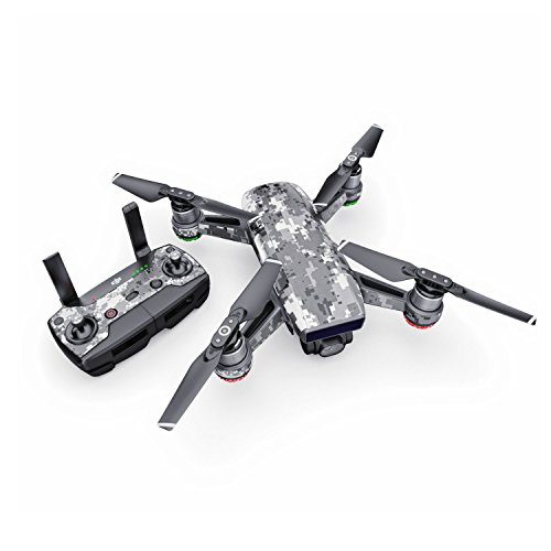 Digital Urban Camo Decal for Drone DJI Spark Kit - Includes Drone Skin, Controller Skin and 1 Battery Skin