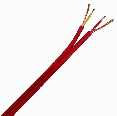 Aerzetix: 10m 10metri Cavo Audio Costa a Costa Piatto Rosso schermato 2x 0.14mm² 2.9x 5.8mm c19720