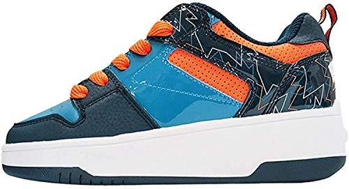 Heelys Pop, Jungen Lauflernschuhe Sneakers, Navy/Royal/Orange - Größe: 35 EU