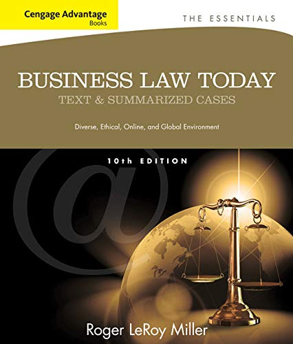 Image OfCengage Advantage Books: Business Law Today, The Essentials: Text And Summarized Cases