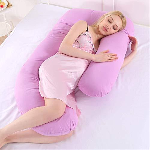 Chunjiao Multifunktionales Mutterschaftskissen, Seitenkissen, abnehmbares und waschbares und waschbares U-förmiges Nickerchen-Kissenkissen Pink-Jade U-förmiges Kissen (Color : Purple)