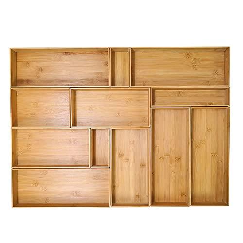 Bamboo Cutlery Organizer in Drawer Organizer Storage Drawerstore Organizzatore Utensili da Cucina Cassettiera Posate Posate Posate Supporto for Posate Pontaliera Piccola partizione