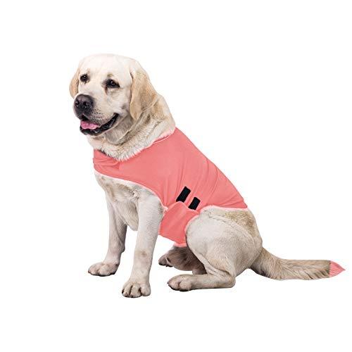 TT.WALK Jakcet Beruhigungsweste für Hunde, weich, für Angstzustände, bequemes Donner-Shirt für Hunde (Pink, XL)