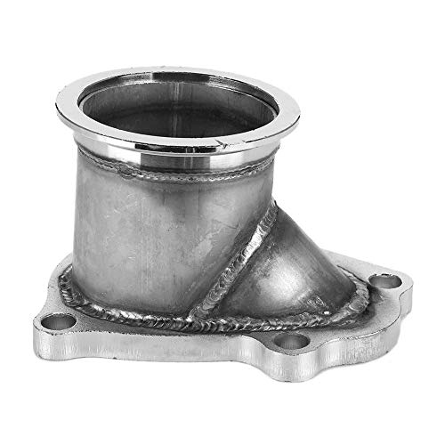 V-Band Flange,Stainless Steel TD04 5 Bolt Turbo Downpipe Flange to 3in V-Band Conversion Adaptor Fit for Subaru WRX 14412AA45
