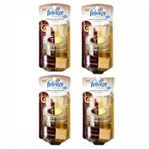 Febreze Noticeables 4 PACKS Dual Scented Oil Refill, Cinnamon Sugar & H