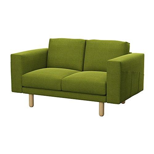 Soferia Bezug fur IKEA NORSBORG 2er-Sofa, Stoff Elegance Green