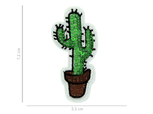 Alsino patches om op te strijken patch patch jack shirt broek patches set Eén maat Pat-112 Cactus pailletten