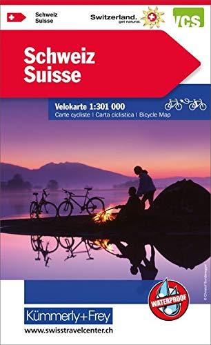 Schweiz Velokarte: 1:301 000, waterproof
