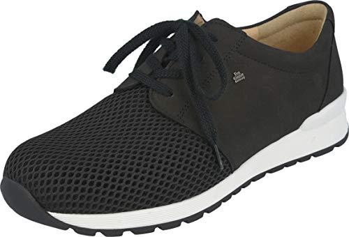 Finn Comfort Enfield (schwarz) - Herrenschuhe Sneaker/Schnürschuh, Schwarz, Leder (Skipper/Buggy)