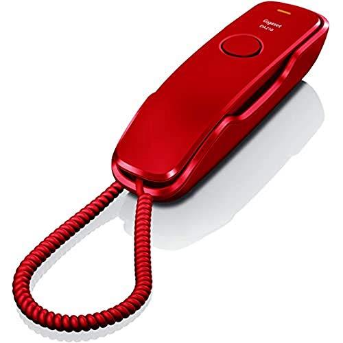 Gigaset DA210 - Télefono Fijo con Cable, Color Rojo