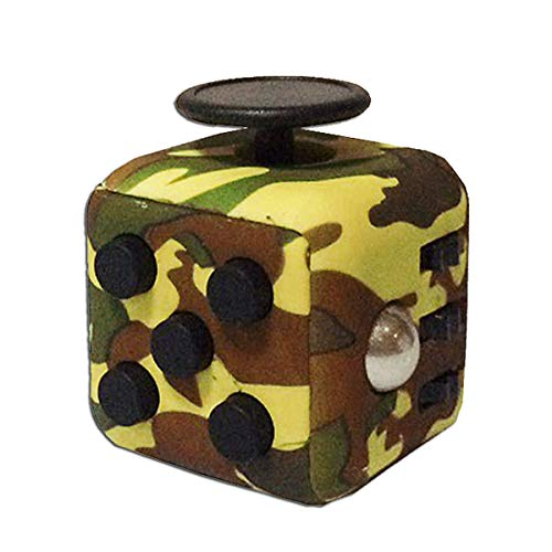 Sytrade Fidget Cube - Release Stress for Kids Teen Adults - Antsy Anxiety Pressure Relieving Toy Multicolor (Camouflage Green&Black)