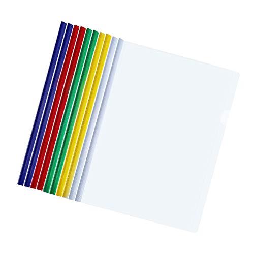 Reportes deslizantes multicolores para presentaciones de papel A4