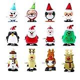 STOBOK Christmas Wind-up Toys Cute Clockwork Toys for Christmas Party Favor Goody Bag