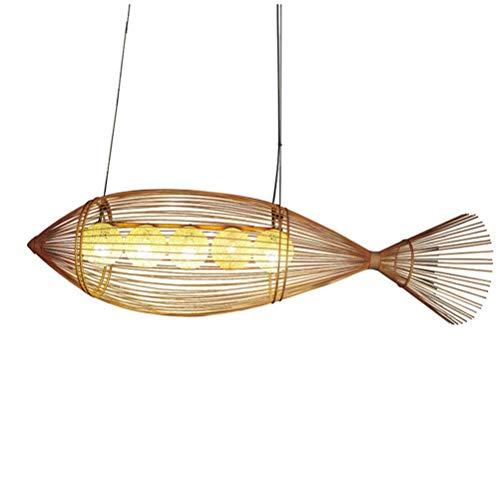 Lámpara colgante con forma de pez con forma de bambú Iluminación cr