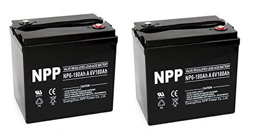 NPP 6V 180 Amp AGM Battery