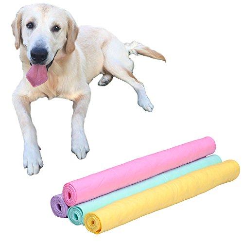 Sotoboo Toalla de perro superabsorbente grande – Pva toalla de secado rápido para mascotas – Toalla súper absorbente absorbente gamuza de secado sintético para perros gatos (M)
