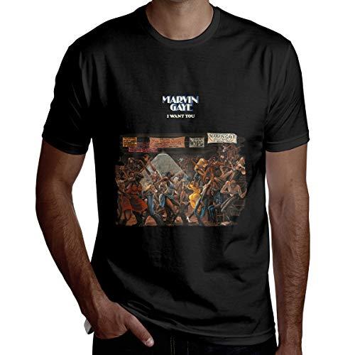 マーヴィン・ゲイ Marvin Gaye Tシャツ メンズ 半袖 無地 柔らかい シルエット おしゃれ ファッション 人気 快適 夏服 個性 通勤 通学 運動 日常用 L