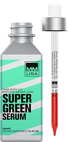 Super Green Serum, Weight Loss, Green Coffee Beans Serum by MMUSA, Appetite Suppressant, Fat Burner, Steady Energy, High Chlorogenic Acid, Water Soluble. Joint Protection and thermogenic Effect.
