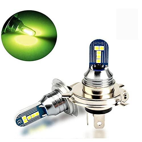 2 Uds H11 H7 Lámpara Antiniebla para Coche 10 Lámpara De Cuentas Resalte Luz Blanca Bombilla De Faro LED Faro De Motocicleta H4 Luz De Lima,H7- Cyan