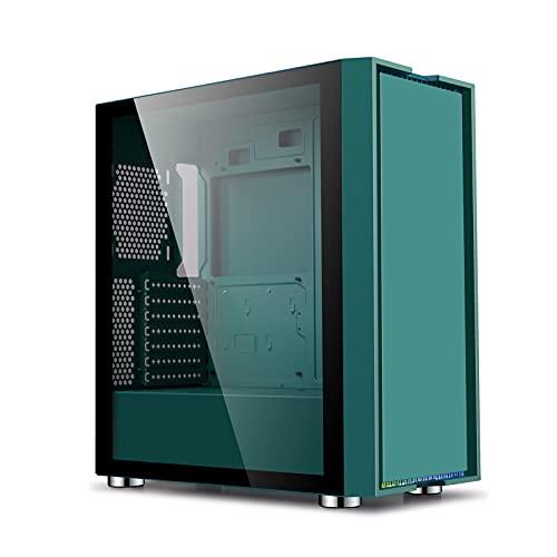 ZXFF Caja De La Computadora, Caja De Juegos De PC ATX/M-ATX/ITX, Panel Lateral Totalmente Transparente, 8 Posiciones De Ventilador, Compatibilidad con Agua Refrigerante (Size : 44×21.5×48CM)